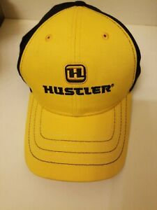Hustler Baseball Cap Yellow Black Best Line Equipment Golf Trucker Hat