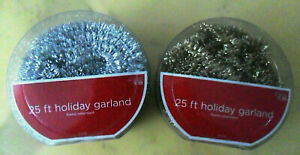 Holiday GARLANDS Tinsel: 25 Ft Gold + 25 Ft Silver, Flame Retardant, Target 2008