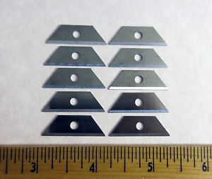 Mini Utility Blades -10 Pack - Box Knife Blade Replacement - 10 pcs Lot 1-1/8