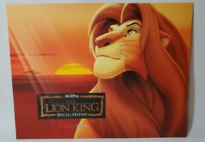 Disney Lithograph Picture Print The Lion King Special Edition $19.99