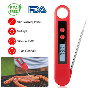 Instant Read Digital Meat Foldable Thermometer With Instant Read LCD Backlight