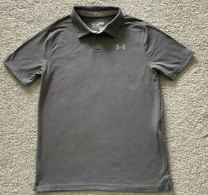 UNDER ARMOUR YLG Heat Gear Loose Fit Polo Shirt Youth Large Gray $7.99