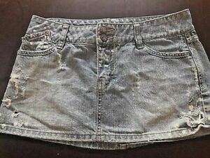 Women#x27;s 2g Simply Best Jeans Denim Skirt Acid Wash Size Medium