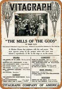 10x14 Metal Sign - 1912 Vitagraph The Mills of the Gods - Rusty Look