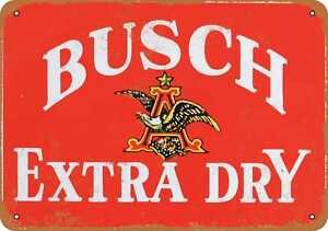 10x14 Metal Sign - Busch Extra Dry Ginger Ale - Rusty Look