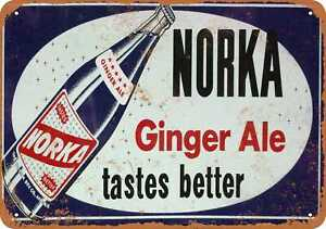10x14 Metal Sign - Norka Ginger Ale - Rusty Look