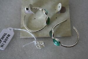 IPPOLITA Sterling Silver Rock Candy Quarts Crystal Hoop earrings NWT