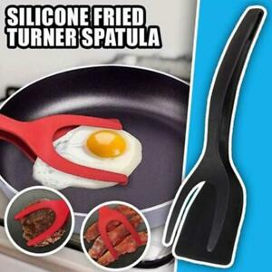2 In 1 Grip and Flip Tongs Egg Spatula Tongs Clamp Pancake Fried Egg French Toas