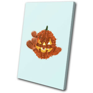 Halloween Cactus Cacti Food Kitchen SINGLE CANVAS WALL ART Picture Print