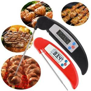 Foldable Digital Thermometer BBQ Oven Folding Probe Meat Food Kitchens Water New