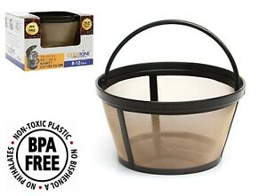 GoldTone Reusable 8 12 Cup Basket Coffee Filter for Mr. Coffee Makers Permanent