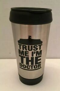Doctor Who Trust Me I'm The Stainless-Steel Tumbler Screw Lid 16oz BPA Free