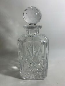 CRYSTAL DECANTER BY ATLANTIS  Square Whiskey Decanter 9.5