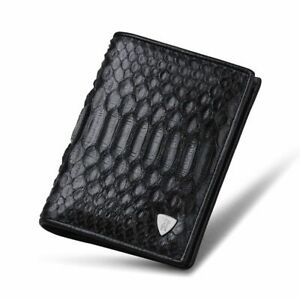 Embossed Snake Skin Leather Wallet Fashion Trifold Purse Case Card Holder Pocket
