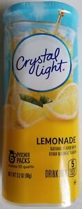 NEW CRYSTAL LIGHT LEMONADE DRINK MIX 12 QUARTS FREE WORLDWIDE SHIPPING