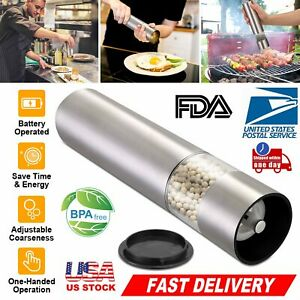 Stainless Steel Grinder Salt and Pepper Mill Shaker Automatic Battery Operated