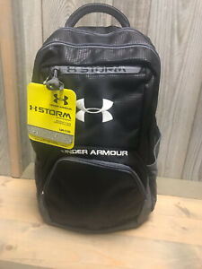 Under Armour Black Storm Backpack 1238442 001 Water Resistant Brand New w Tags $20.00