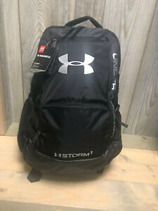 Men's Under Armour Team Hustle Storm Backpack Black 1272782 001 Brand New w tag $27.50