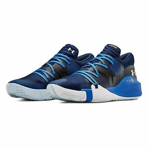 Under Armour Spawn Low Men's Basketball Shoes Blue 3021263 400 size 13 $59.34