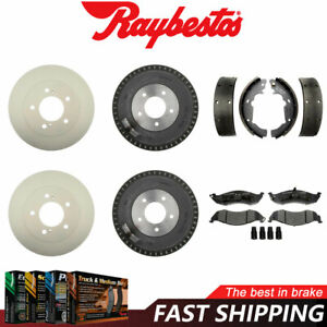For 1993-2002 Quest Front Coated Rotors & Ceramic Pads Rear Brake Drums & Shoes
