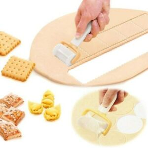 3PCS DIY Rolling Cookie Pastry Dough Cutter Biscuit Crimped Mold Baking Tool Set $8.99
