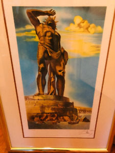 Salvador Dali Signed and Numbered Lithograph #x27;The Colossus#x27; FREE SHIP $600.00