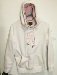 Browning for Her Womens White Pink Realtree Camo Hooded Sweatshirt Size Small