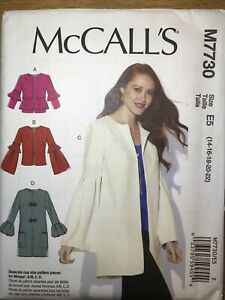 NEW McCall#x27;s quot;Easyquot; Sewing Pattern M7730 Misses Loose Fitting Lined Jackets $5.00
