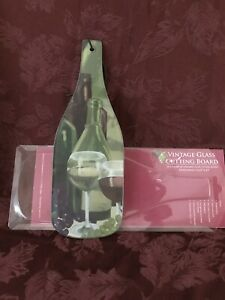 New TEMPERED GLASS Wine Bottle Cutting Board by Dennis East