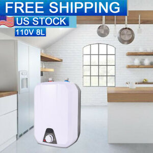 110V 55℃-75℃  60HZ Electric Tankless Hot Water Heater Kitchen Bathroom Home 8L