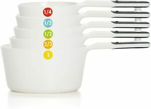 11111102 OXO Good Grips 6 Piece Plastic Measuring Cups Set - White