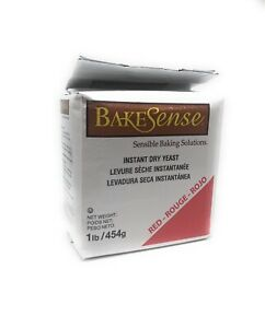 BakeSense Instant Dry Yeast 1 Lb Great for Baking Bread & Pizzas Fast Rising