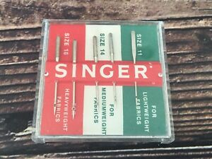 Vintage 5 Pack Singer Needles Variety Pack Size 11 14 amp; 16 Made in West Germany $9.95