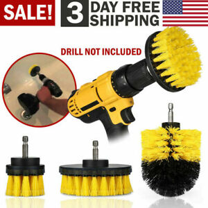 Drill Brush Set Power Scrubber Drill Attachments For Carpet Tile Grout Cleaning $8.79