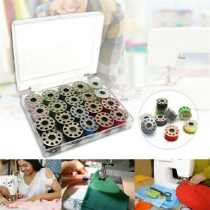 Metal Bobbins with 20 Colors Sewing Machine Spools Yarn Sewing Spool Set W Box $7.99