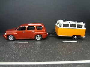 Johnny Lightning 2006 Chevy HHR with camping trailer Loose 1:64 Scale