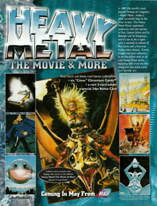 1996 HEAVY METAL THE MOVIE amp; MORE DEALER SELL SHEET $3.95