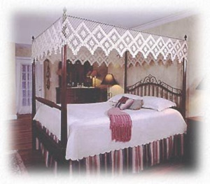 Hand Tied Bedding Canopy Top.  Flat Style.