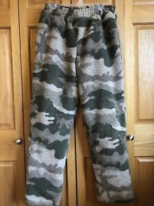Cabela's Outfitters Berber Fleece WindShear Pants Outfitter Camo Medium Hunting