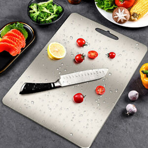 Home Kitchen Cutting Board Stainless Steel Double-Sided Nonslip Chopping Board