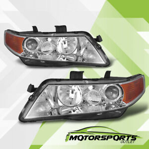 2004 2008 Acura TSX Chrome Projector Factory Style Headlights Pair 2005 2006 $123.99