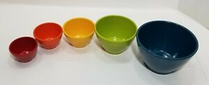*Rachael Ray 5-Piece Melamine Nesting Measuring Cups Set, Assorted Colors