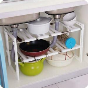 USA Stainless Steel Multi-functional Kitchen Sink Rack /Shelf Holde 2 Tier