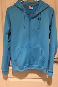 Under Armour Woman's Hooded Sweat Jacket, Size M, Full Zipper Front, Long Sleeve $9.99