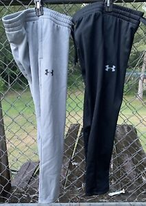 NEW 2 PAIR Under Armour Boys Armour Fleece Pants Youth MEDIUM $67.22