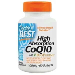 Doctor's Best High Absorption CoQ10 100 mg. 60 Softgels