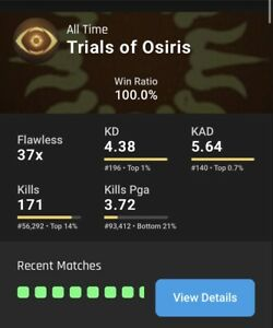 Destiny 2 Trials Of Osiris Guaranteed Flawless SAME DAY PS4 XBOX PC READ DESC