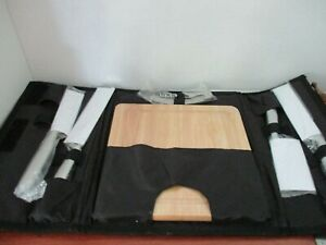 Portable CHEESE CUTTING BOARD, KNIVES, & WINE OPENER Travel Picnic SET~NEW