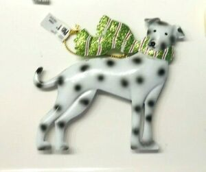 Pier 1 *PARK AVENUE PUPPIES* Metal & Glitter Holiday Ornaments - your Choice NWT