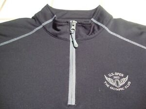 Under Armour US Open 2012 Olympic Club Golf Pullover Black Loose Mens Size Large $29.99
